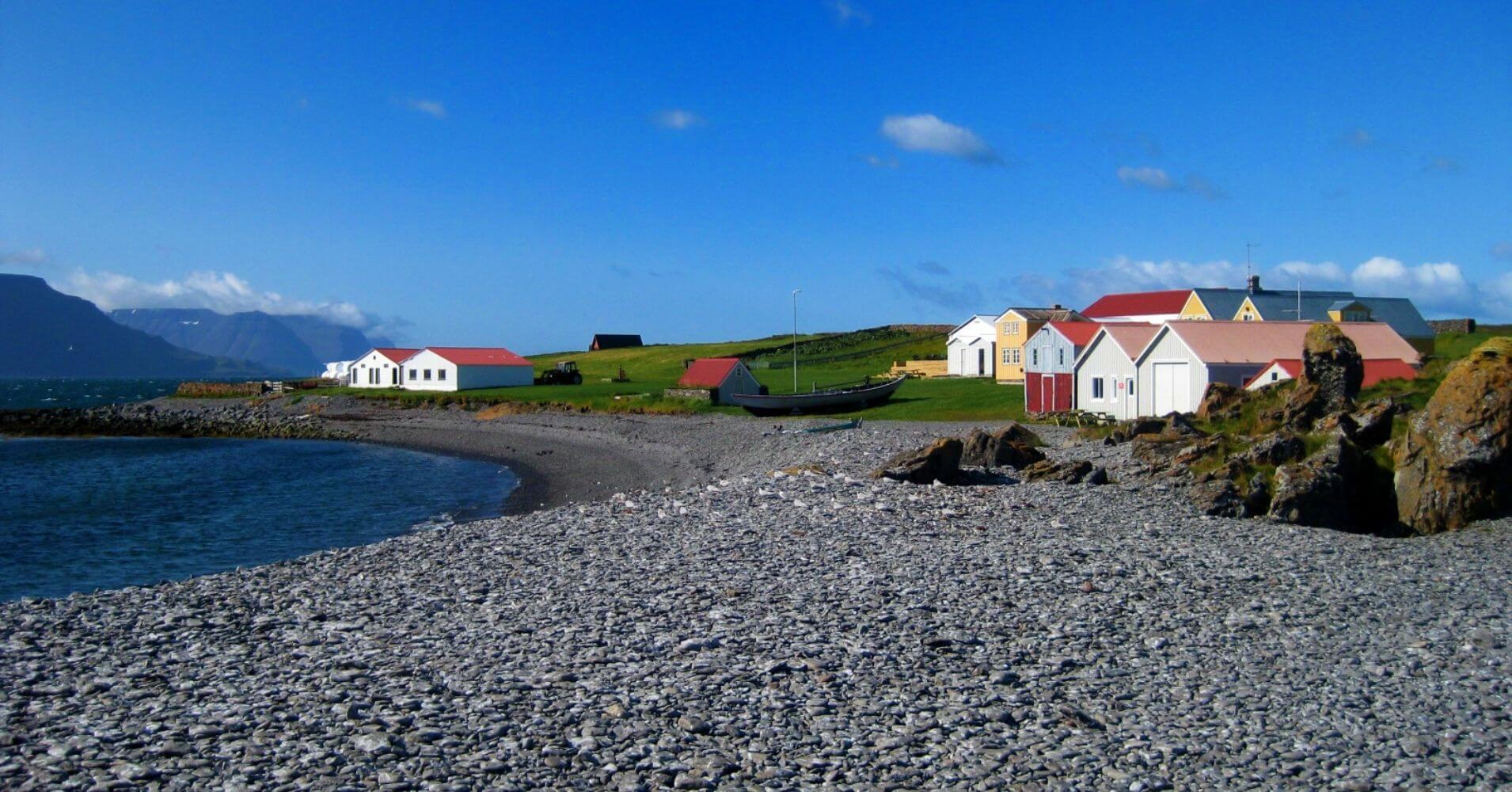 Granja de Isla Vigur. Ísafjörður. Vestfirðir. Islandia.