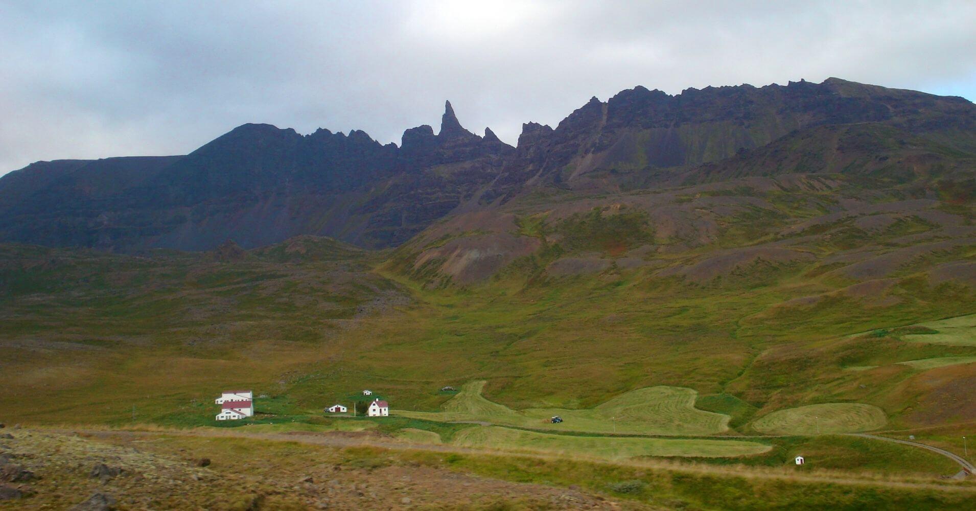 Granjas Camino del Volcán Snaefells Snæfellsjökull. Vesturland. Islandia.