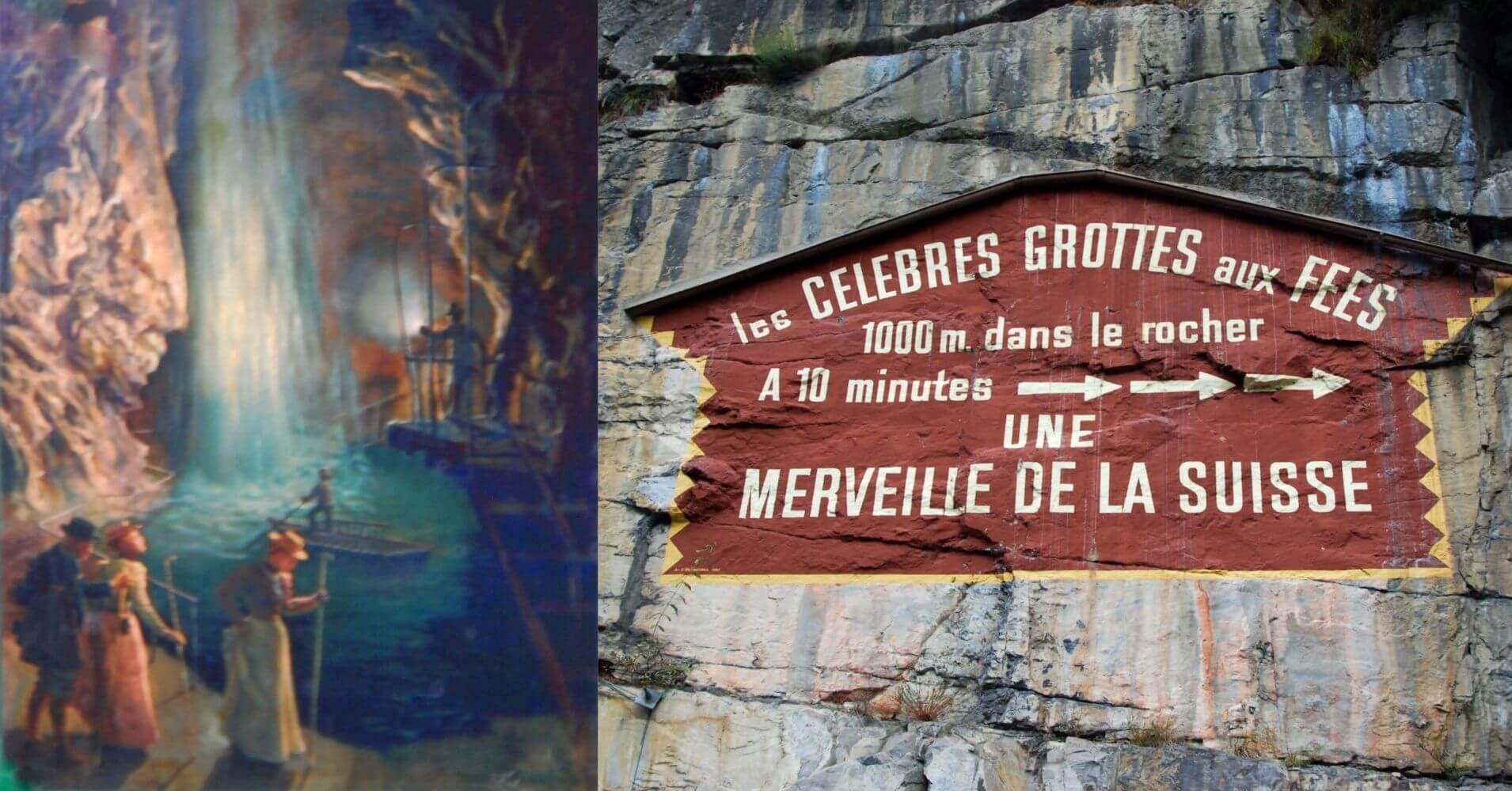 Grotte Aux Fées, en St, Maurice. Valais, Suiza.