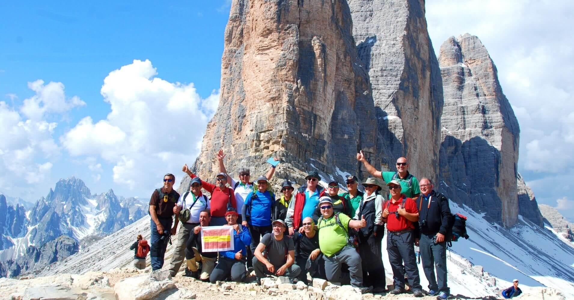 Grupo de Montaña Santo Tomé. Alpes Dolomitas. Belluno. Véneto. Italia.