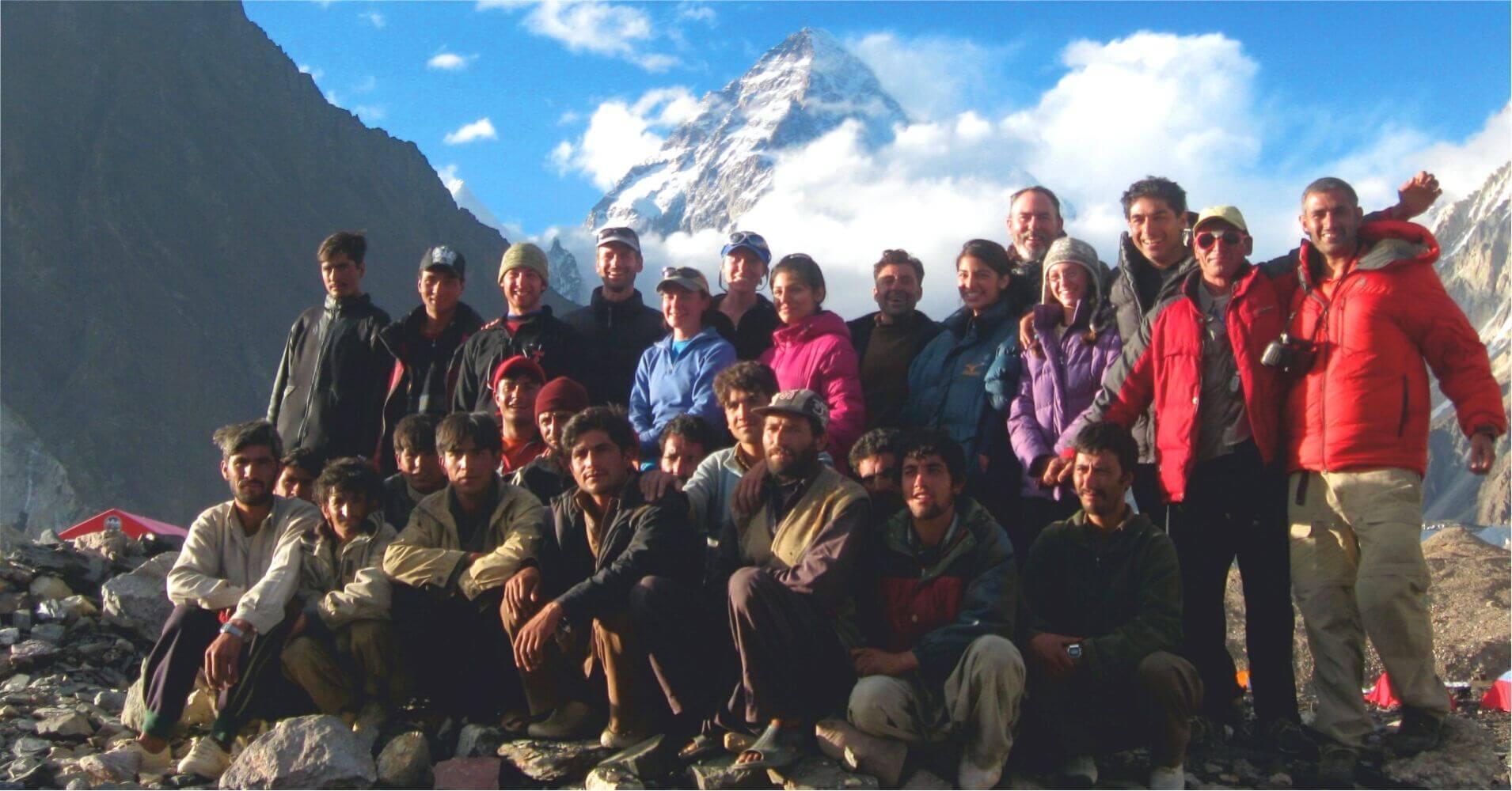 Grupo en el Campo Base del K2. Pakistán.