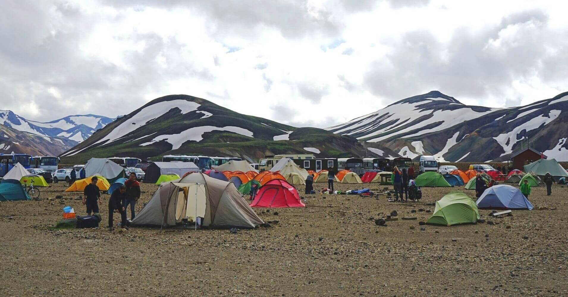 Acampada en Landmannalaugar. Iceland.