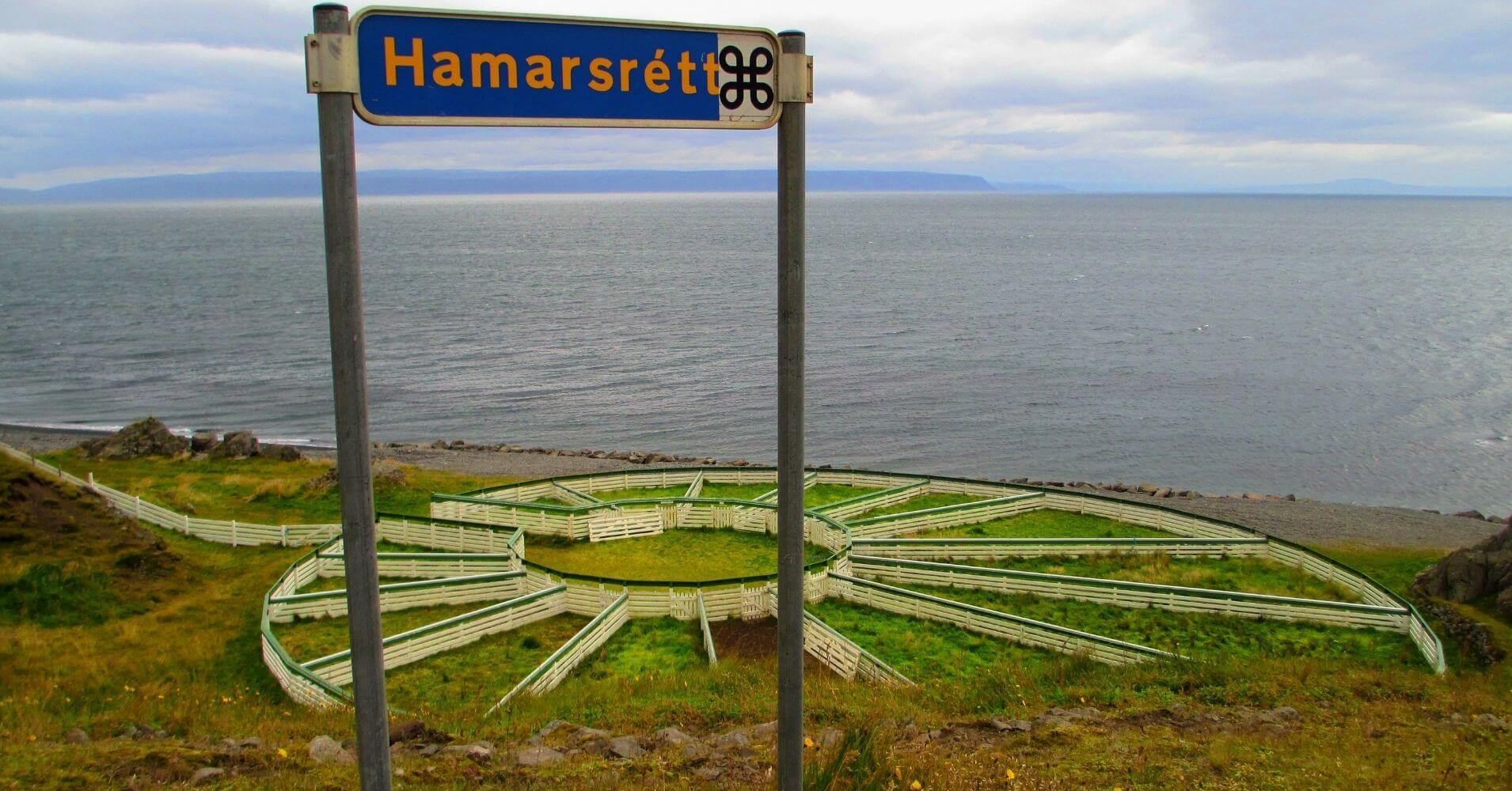 Hamarsrétt. Península de Vatnsnes. Hvammstangi. Norðurland Vestra. Islandia.