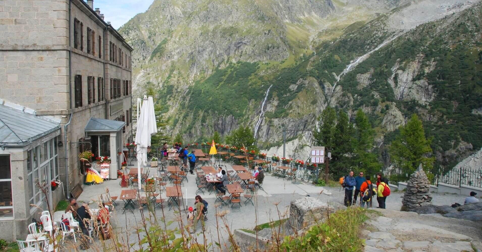 Hotel de Montenvers. Chamonix, Alta Saboya. Auvernia-Ródano-Alpes. Francia.