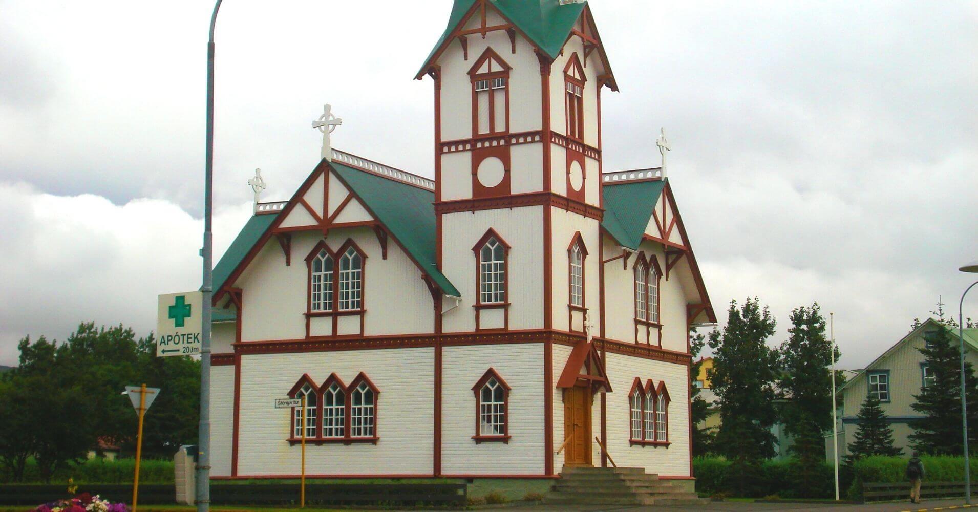 Iglesia de Húsavik. Islandia.