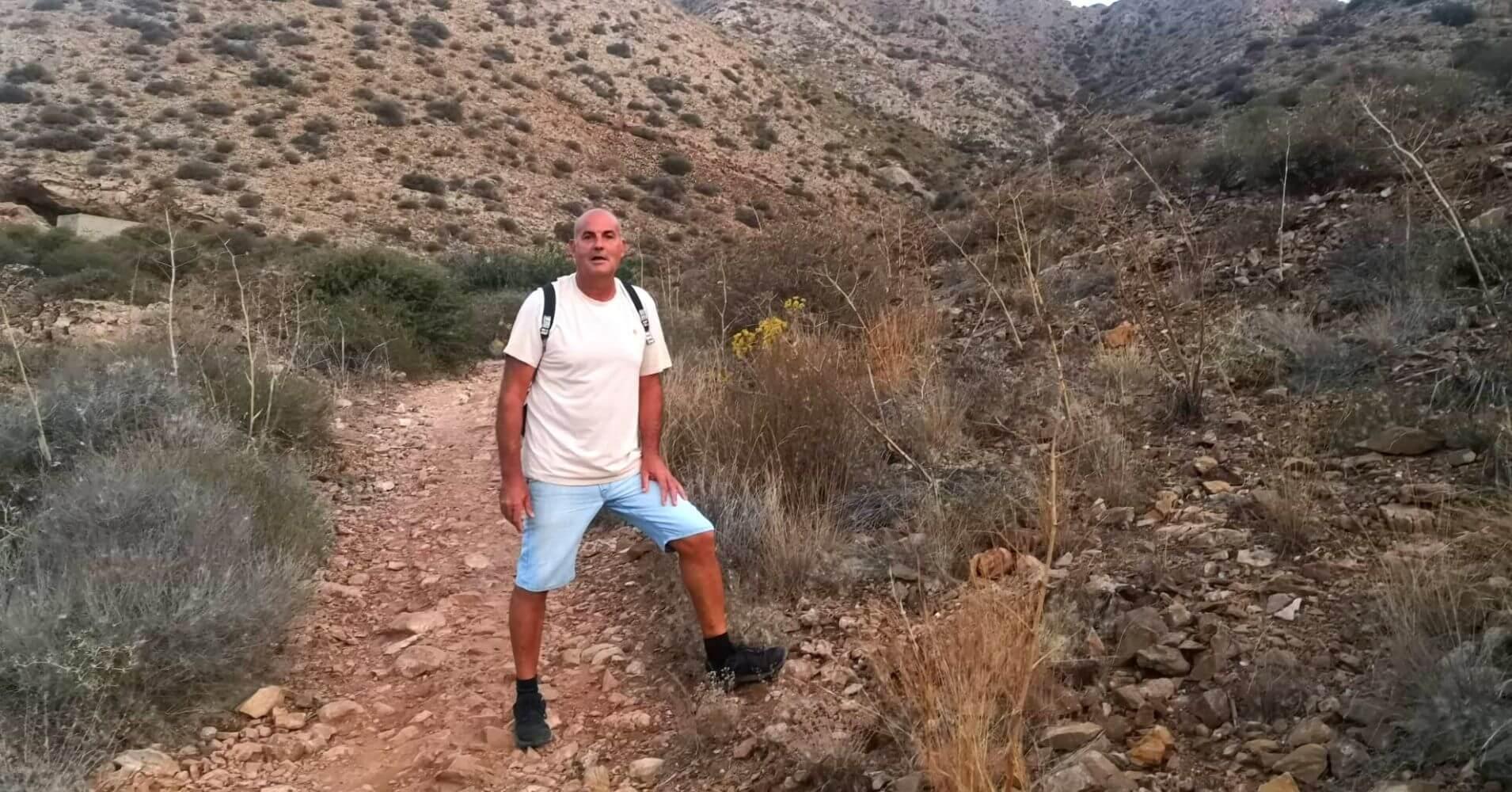 Inicio de la Trepada a la Cumbre del Cabezo Gordo. Torre Pacheco. Murcia.