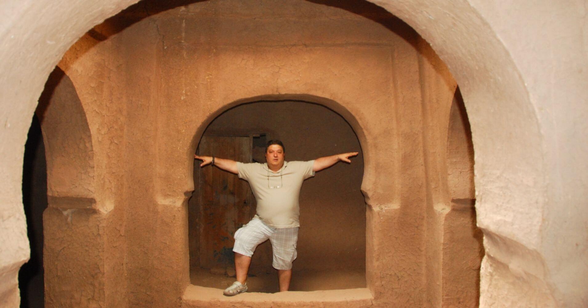 Interior de las Casas de la Kasbah. Marruecos.