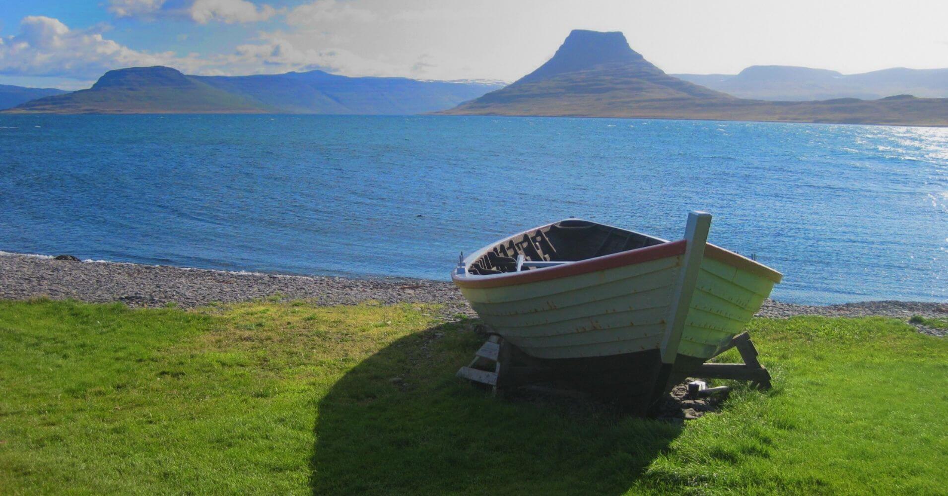 Isla de Vigur en Ísafjörður. Vestfirðir. Islandia.