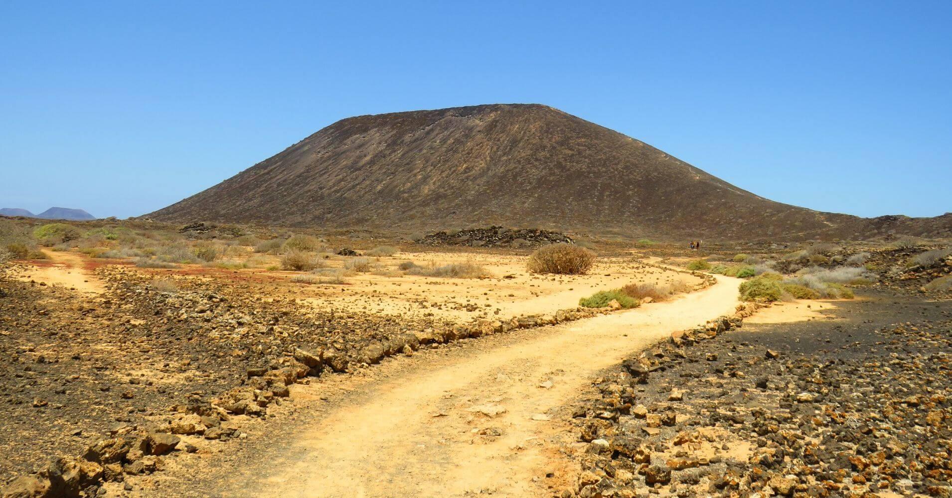 Volcán de La Caldera. Isla de Los Lobos. Canarias.