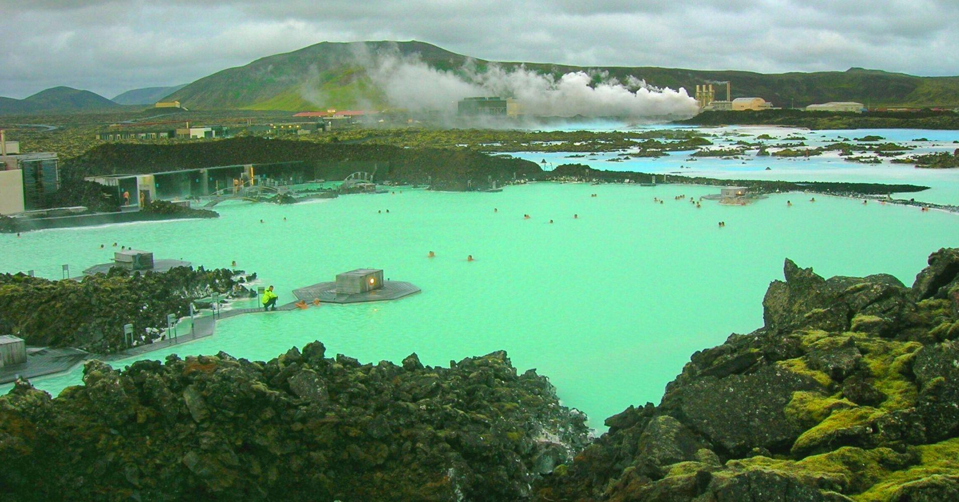 La Laguna Azul Blue Lagoon, Islandia.
