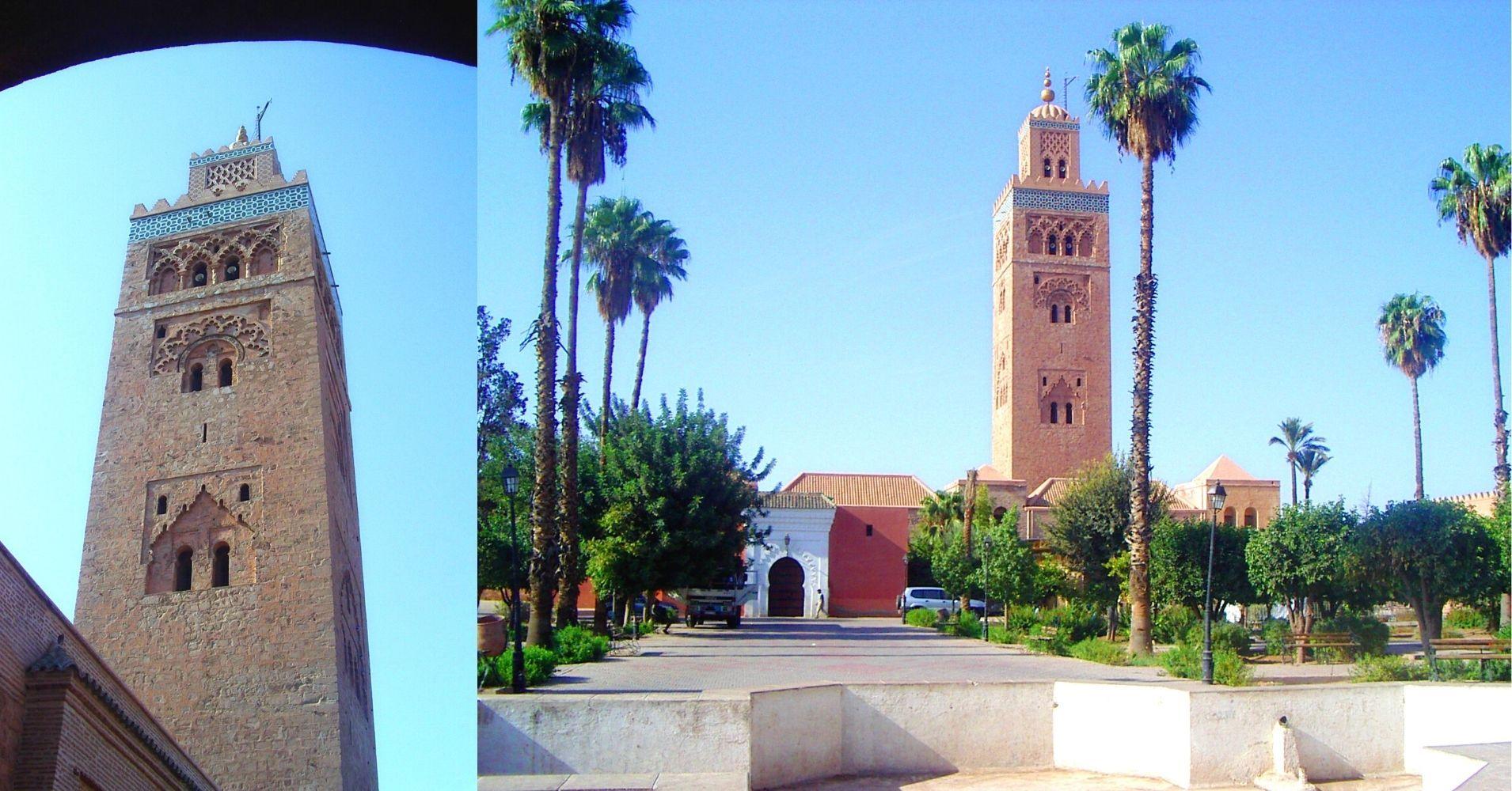 La Mezquita de la Koutoubia, Marrakech. Marruecos.