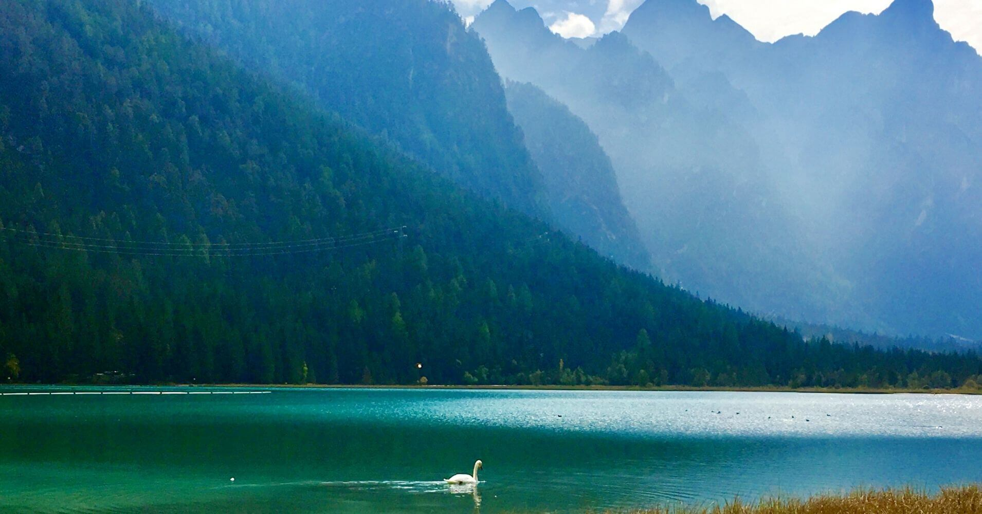 Lago di Dobbiaco. Bolzano, Trentino Alto Adigio. Italia.