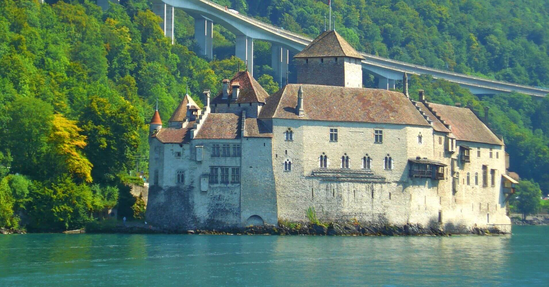 Lago Lemán. Castillo de Chillón. Veyteaux, Vadud. Suiza.