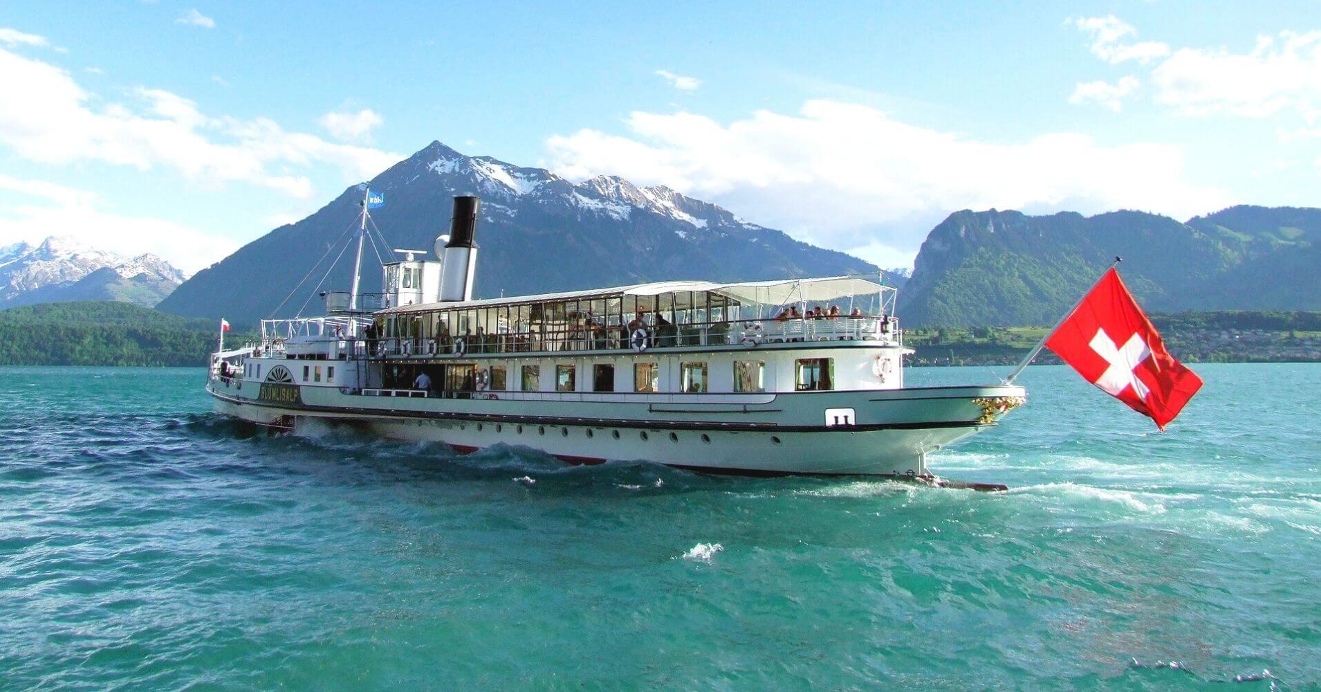 Lago Lemán. Lausana, Suiza.