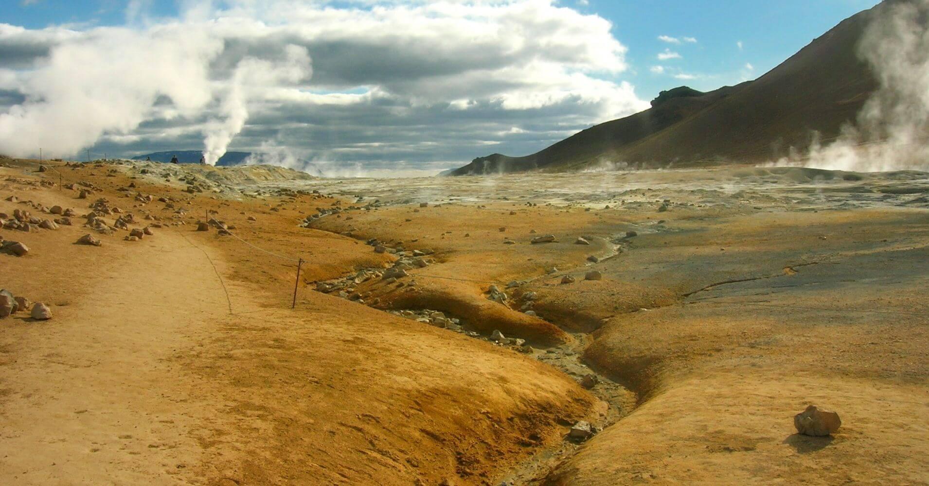 Las Fumarolas de Hverarond. Lago Mývatn Norte de Islandia.
