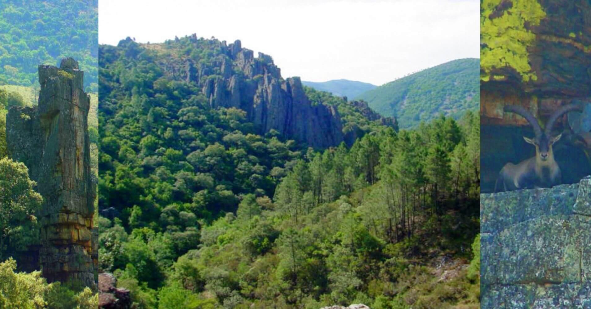 Las Torres del Valle de Las Batuecas. Parque Natural Batuecas Sierra de Francia. Salamanca, Castilla y León.