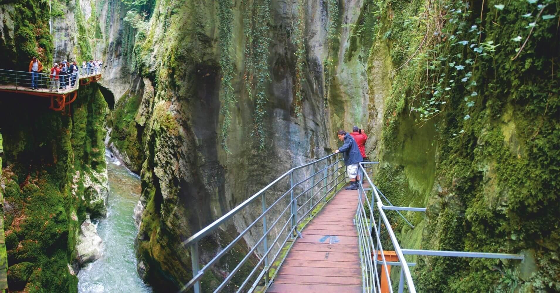 Les Gorges du Fier. Lovagni, Alta Saboya. Auvernia-Ródano-Alpes, Francia.