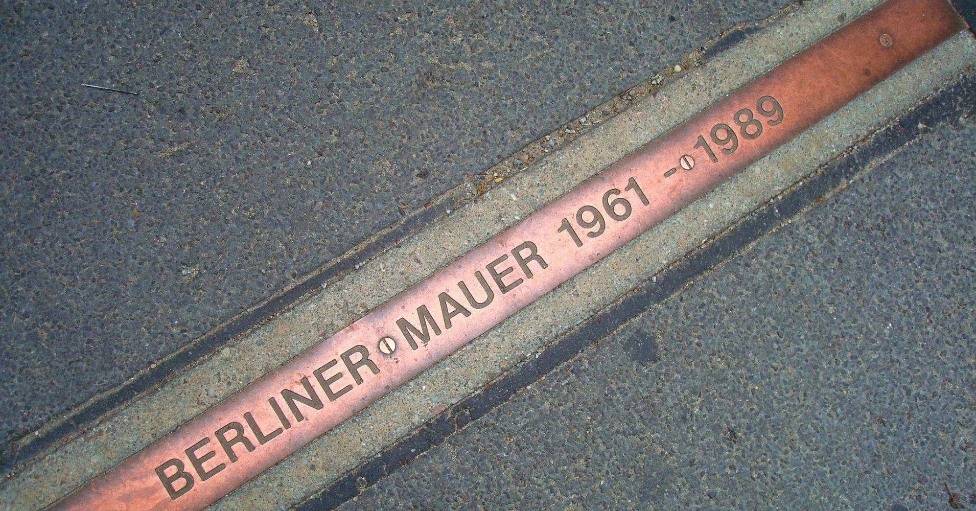 Línea del Muro de Berlín. Alemania.
