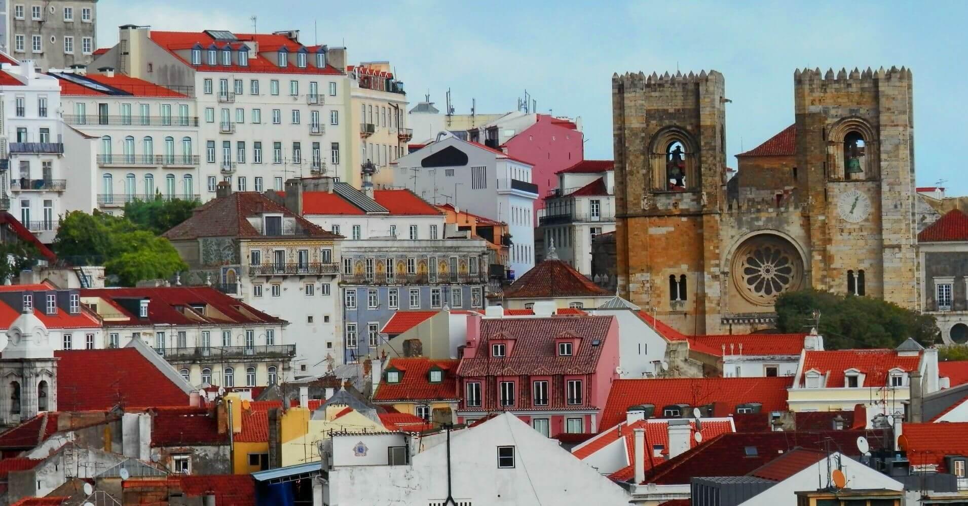 Lisboa Catedral Se Portugal.