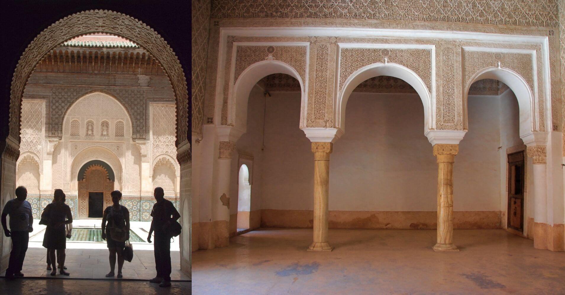 Madraza de Ben Youssef en Marrakech, Marruecos.