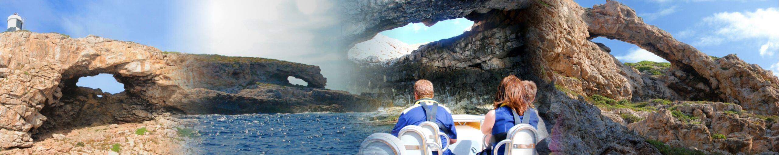 Mar Cabrera. Excursiones al Parque Nacional de Isla Cabrera. Islas Baleares.