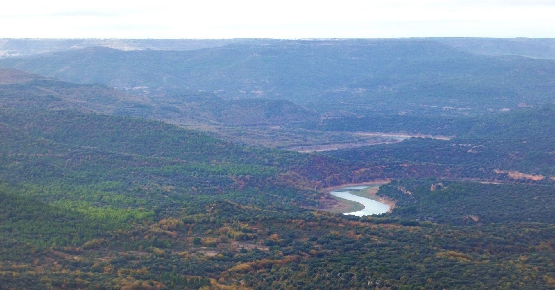 Meandros del Río Tajo desde la cumbre. Guadalajara. Castilla la Mancha.
