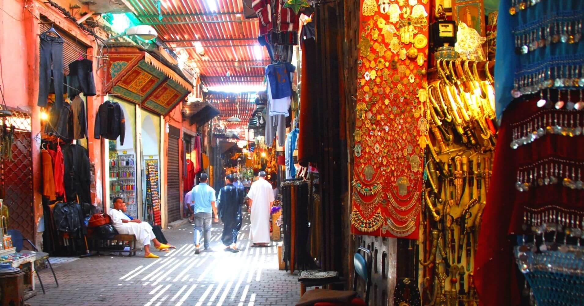 Medina de Marrakech en Marruecos.