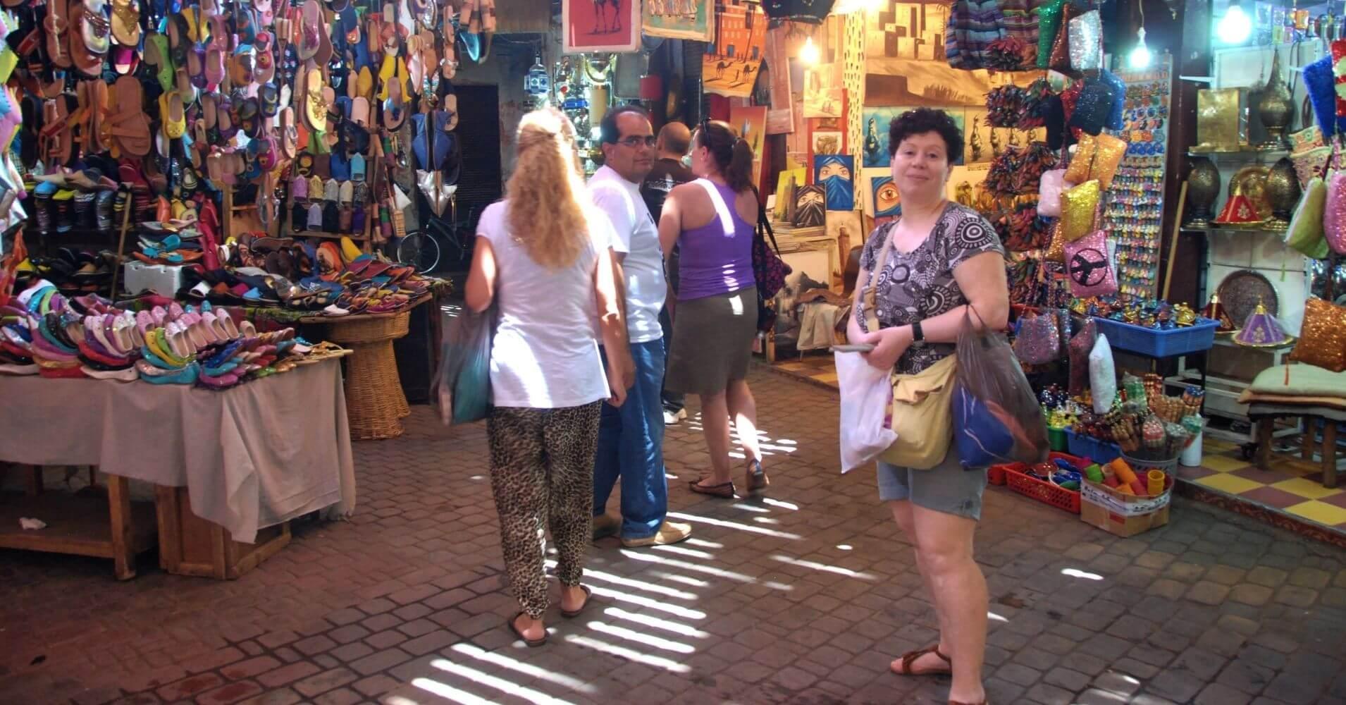 Viajar a Marruecos. Medina de Marrakech, Marruecos.