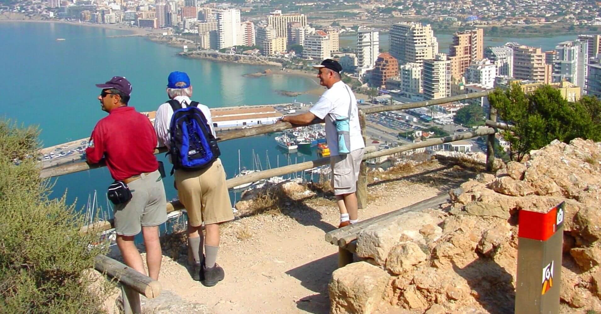 Miradores en la Subida al Peñón de Ifach. Calpe, Alicante. Comunidad Valenciana.