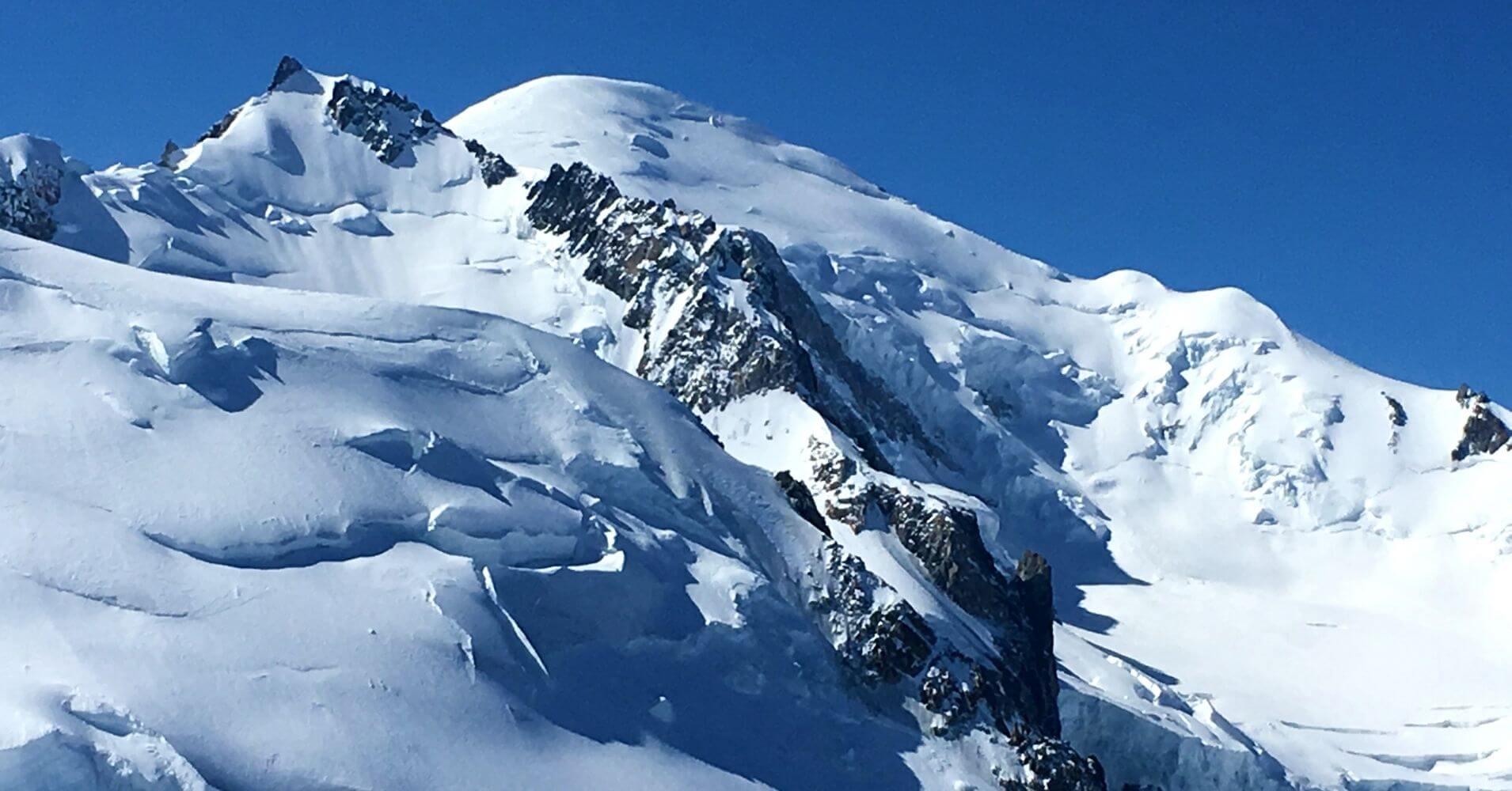 Cumbre del Mont Blanc, 4810m. Chamonix, Alta Saboya. Auvernia-Ródano-Alpes. Francia.
