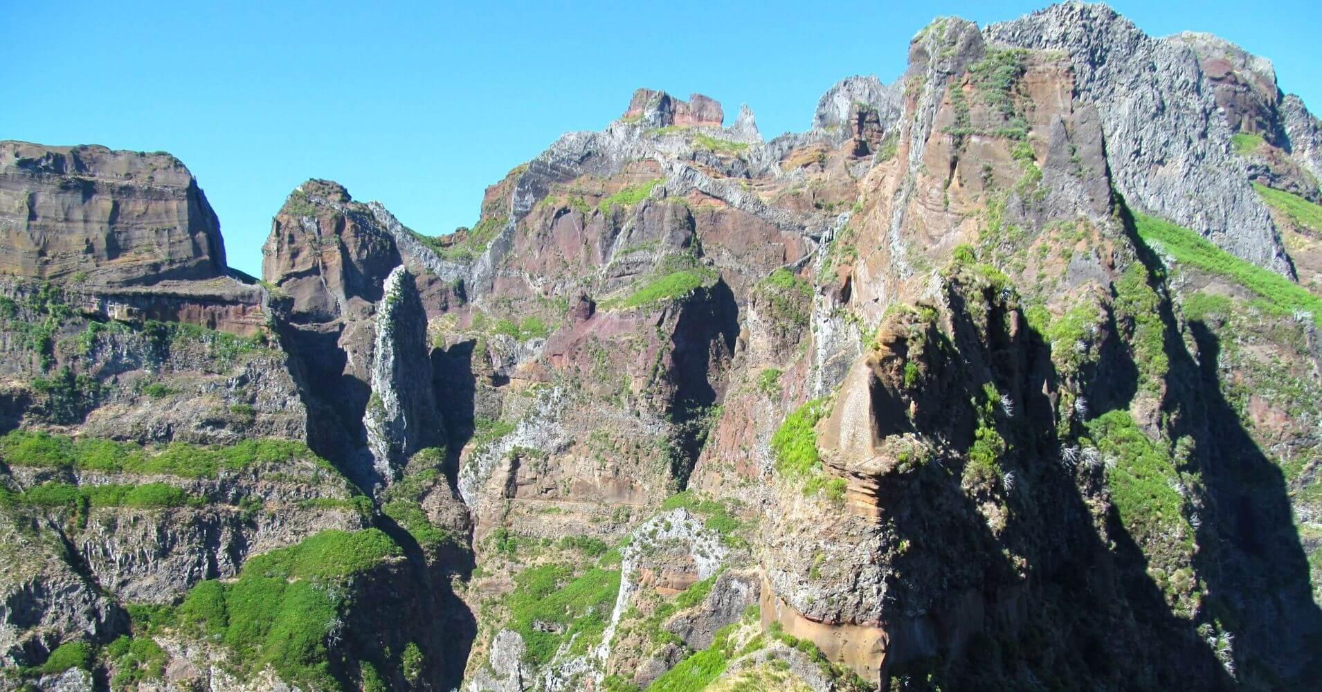 Montanas de Madeira. Vereda do Areeiro. Isla de Madeira, Portugal.