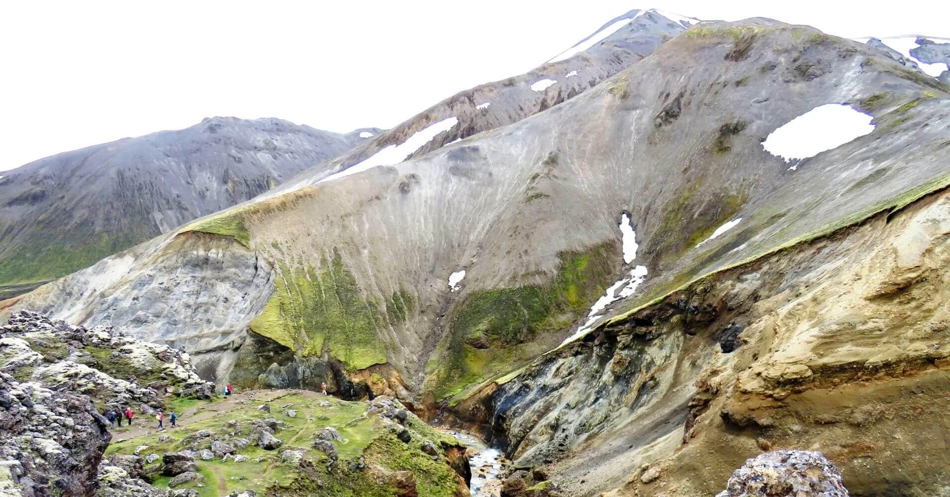Montañas Quemadas Landmannalaugar Tierras Altas de Islandia.