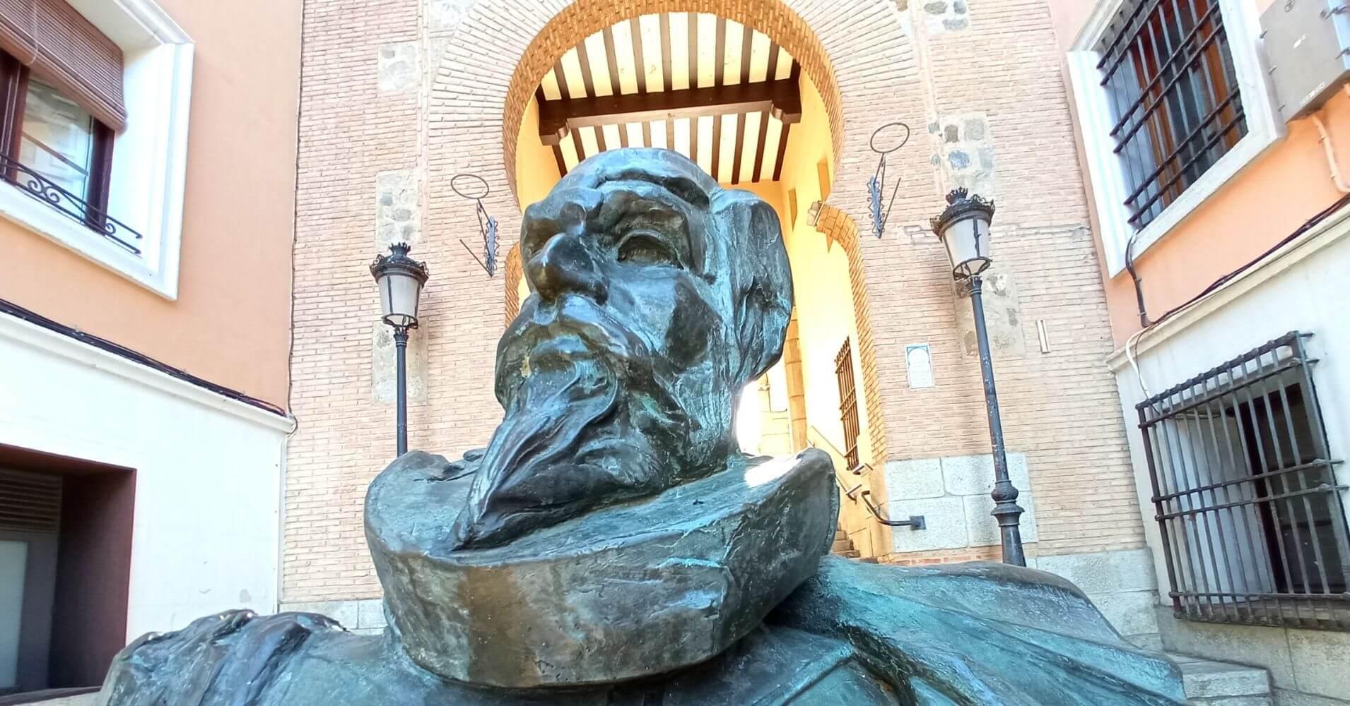 Monumento a Miguel de Cervantes. Toledo, Castilla La Mancha.