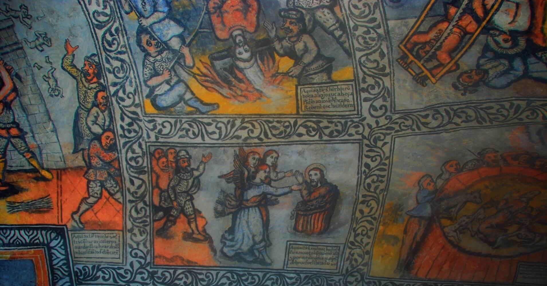 Murales y Frescos del Martirio de San Bernabé y San Tirso. Las Merindades. Burgos.