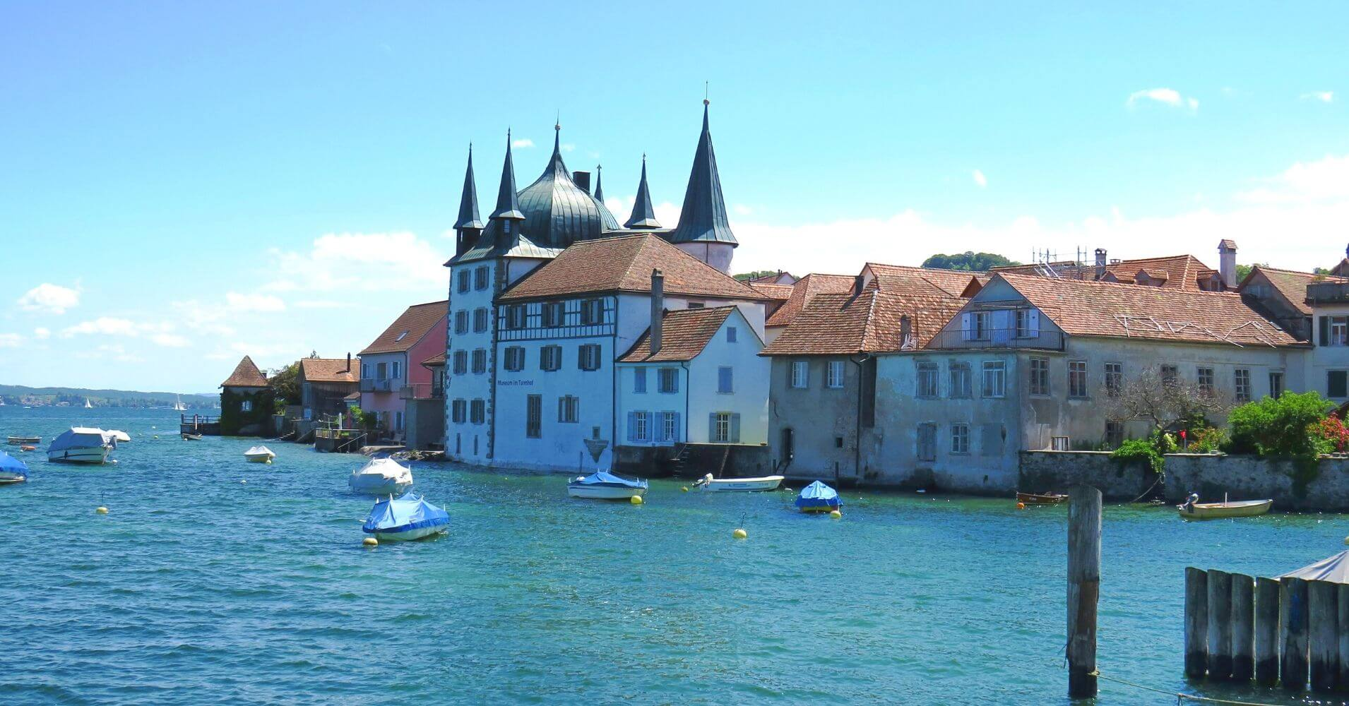 Museum im Turmhof. Lago Untersee. Steckborn, Suiza.