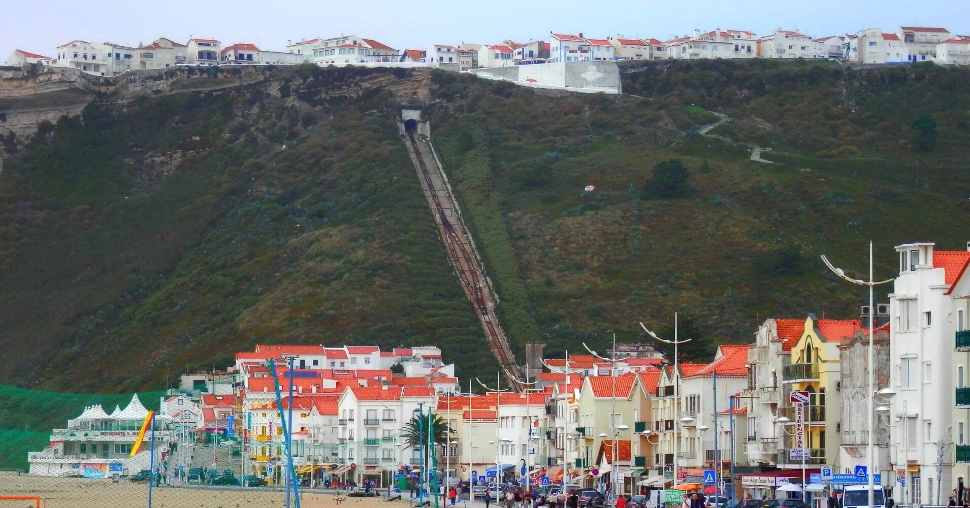 Nazaré el Sitio de las Olas Gigantes. Portugal.