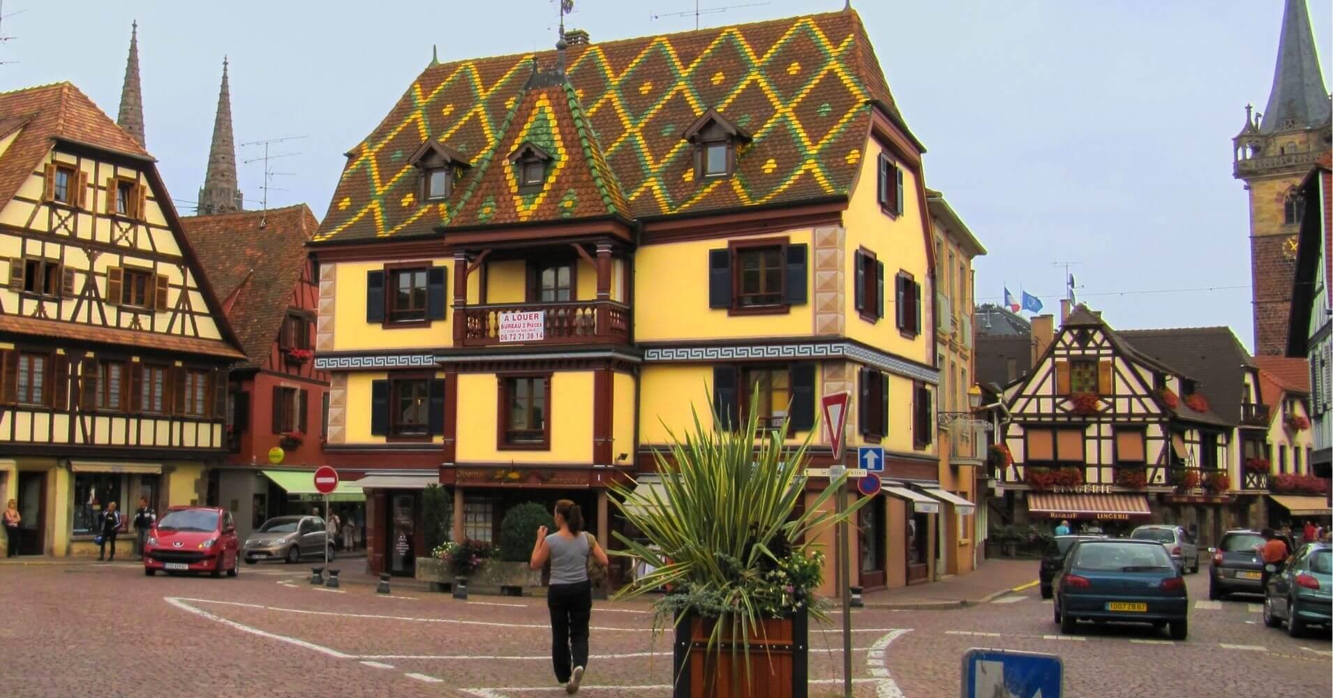 Obernai. Bajo Rin, Alsacia. Gran Este. Francia.