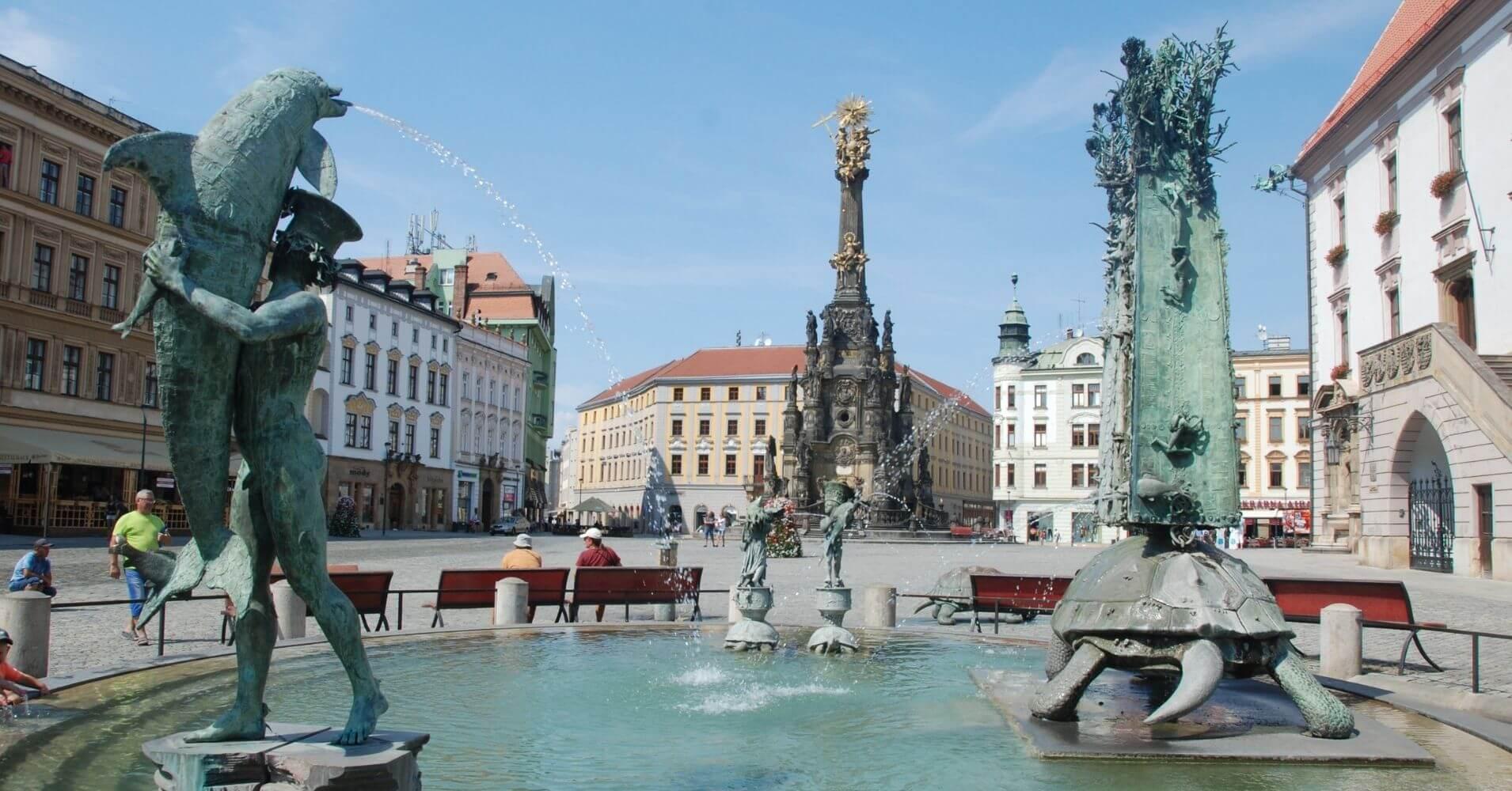 Olomouc Plaza del Ayuntamiento. República Checa.