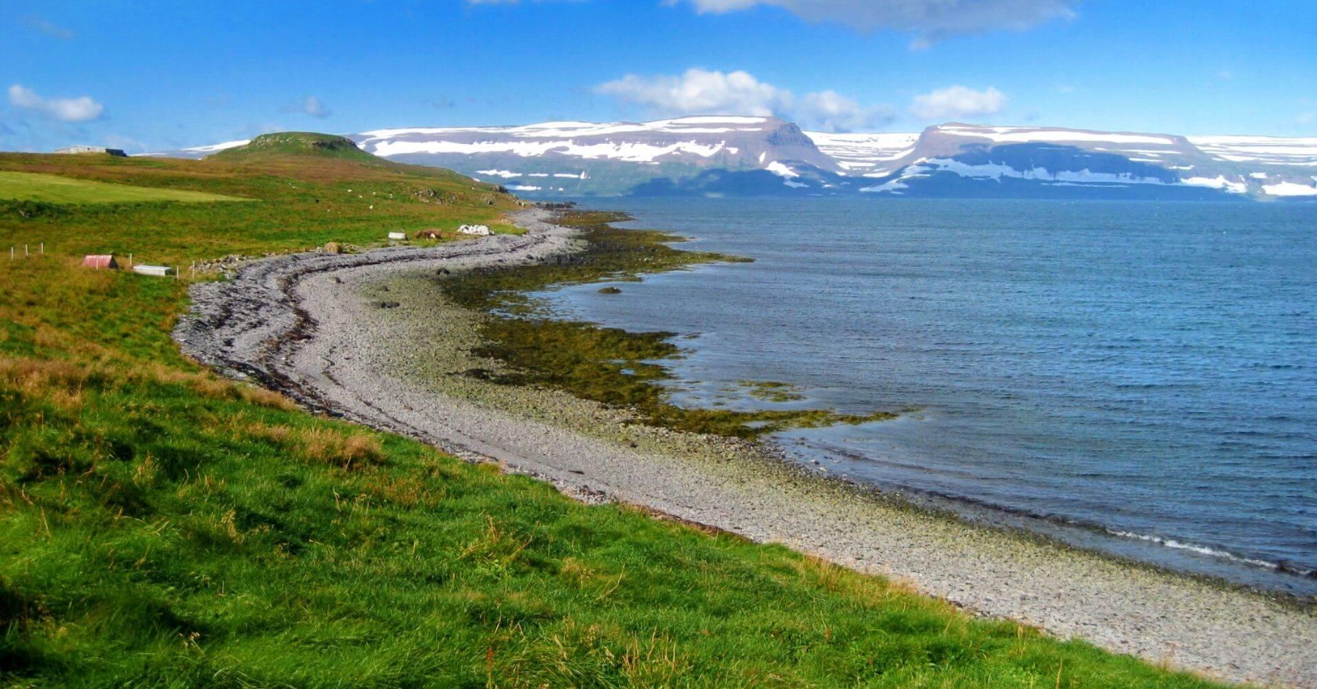 Paisaje de Isla Vigur. Ísafjörður. Vestfirðir. Islandia.