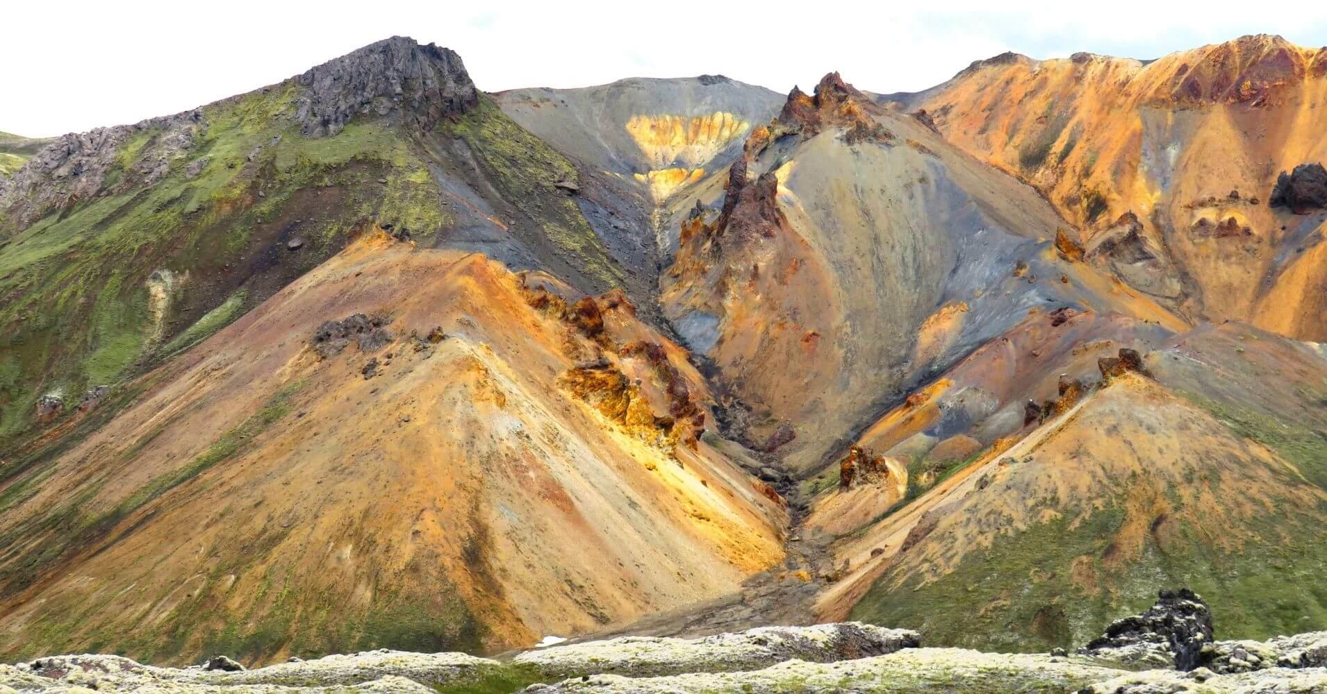 Paisajes de Landmannalaugar Tierras Altas de Islandia.