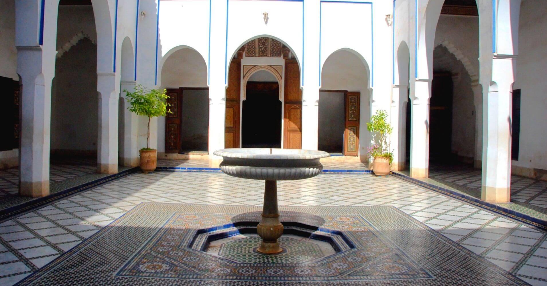 Palacio de la Bahía en Marrakech, Marruecos.