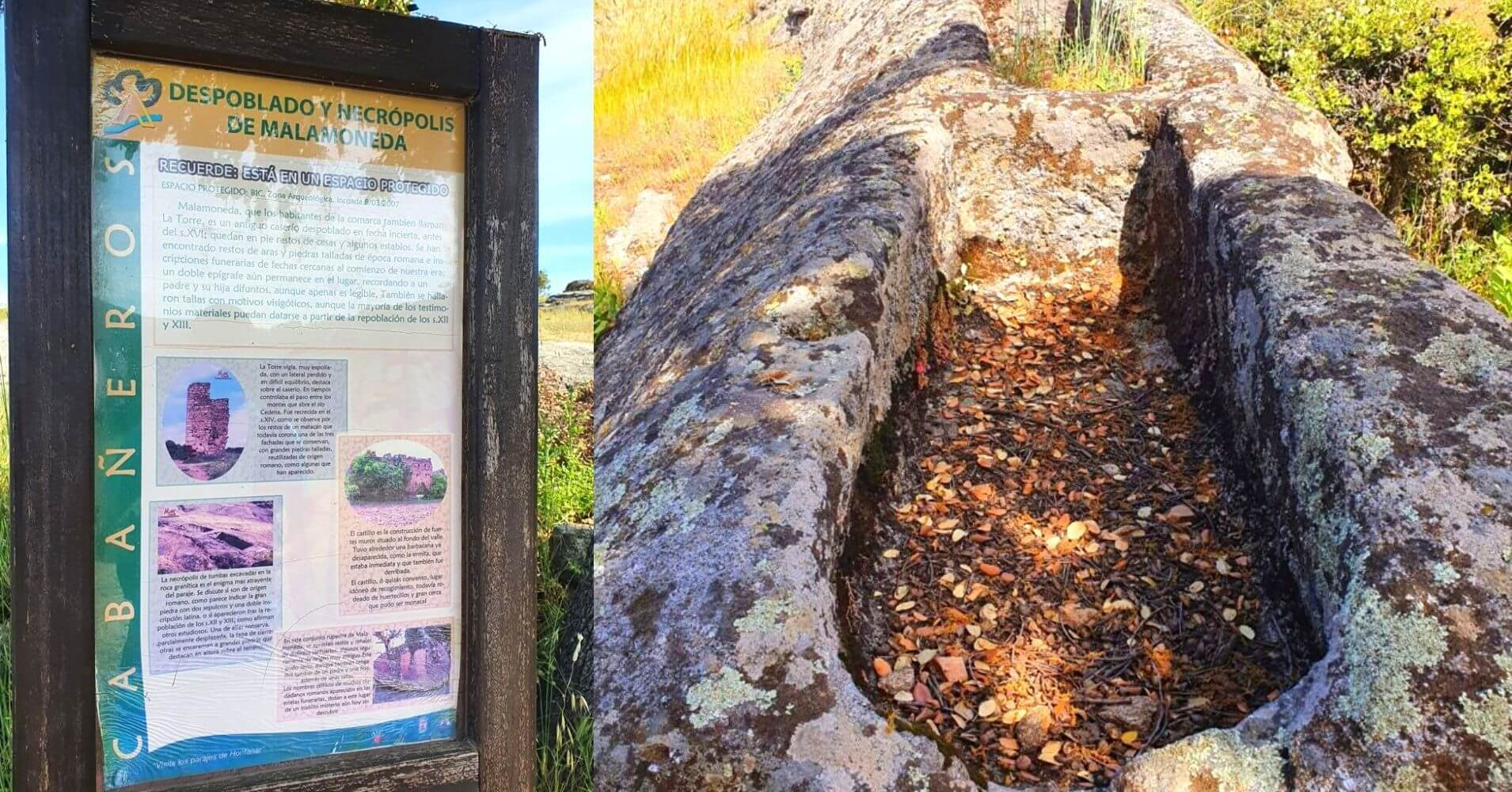 Paneles Informativos y Necrópolis del Paseo por Malamoneda.