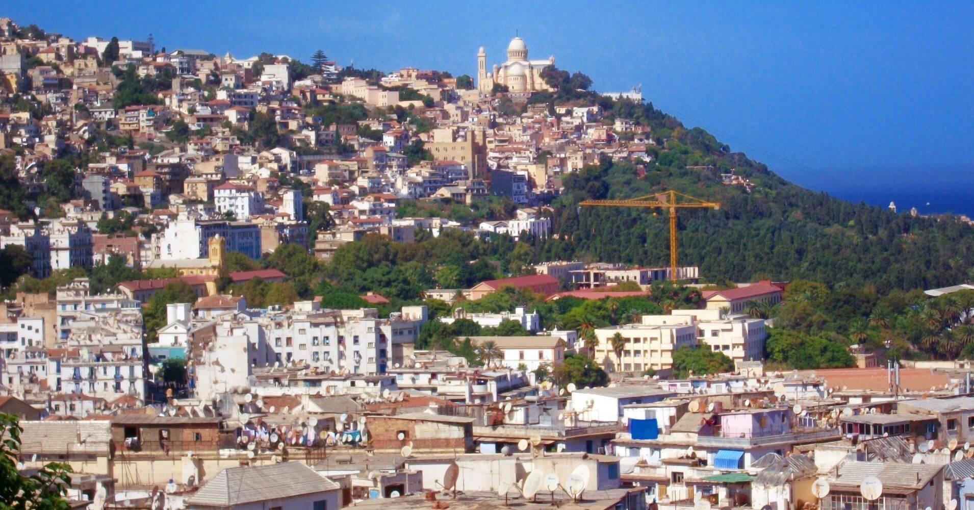 Panorámica de Argel la Blanca. Argelia.