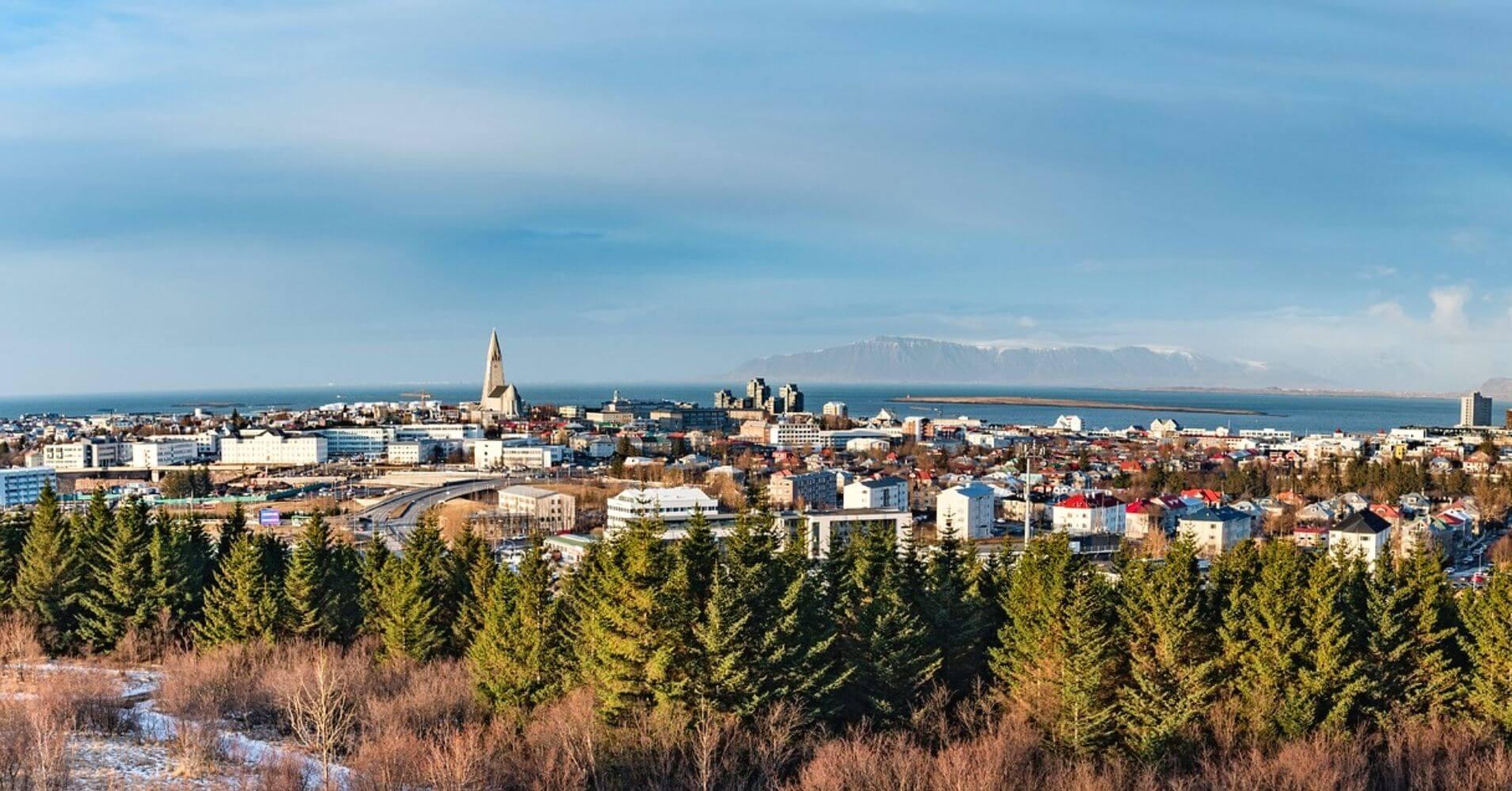 Panorámica de la Ciudad de Reykjavík. Islandia.