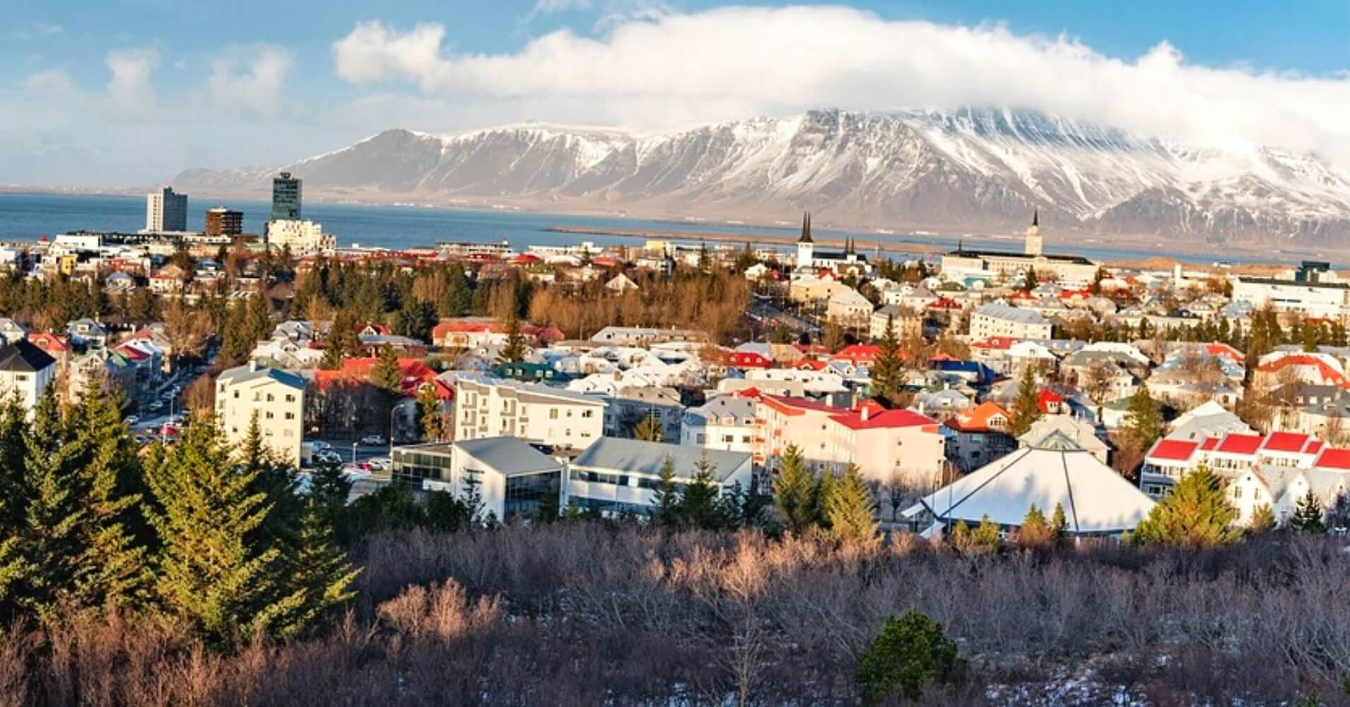 Panorámica de Reykjavík. Islandia.
