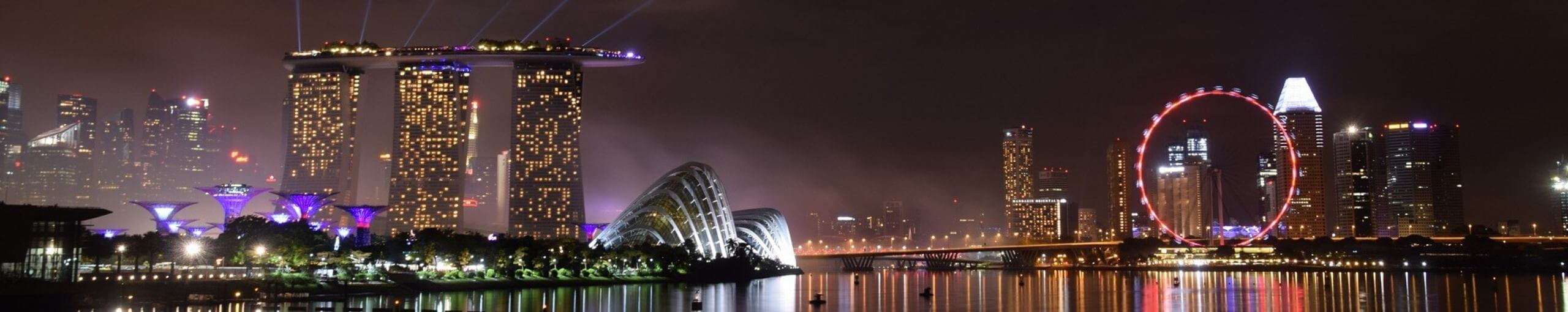 Panorámica de Singapur.