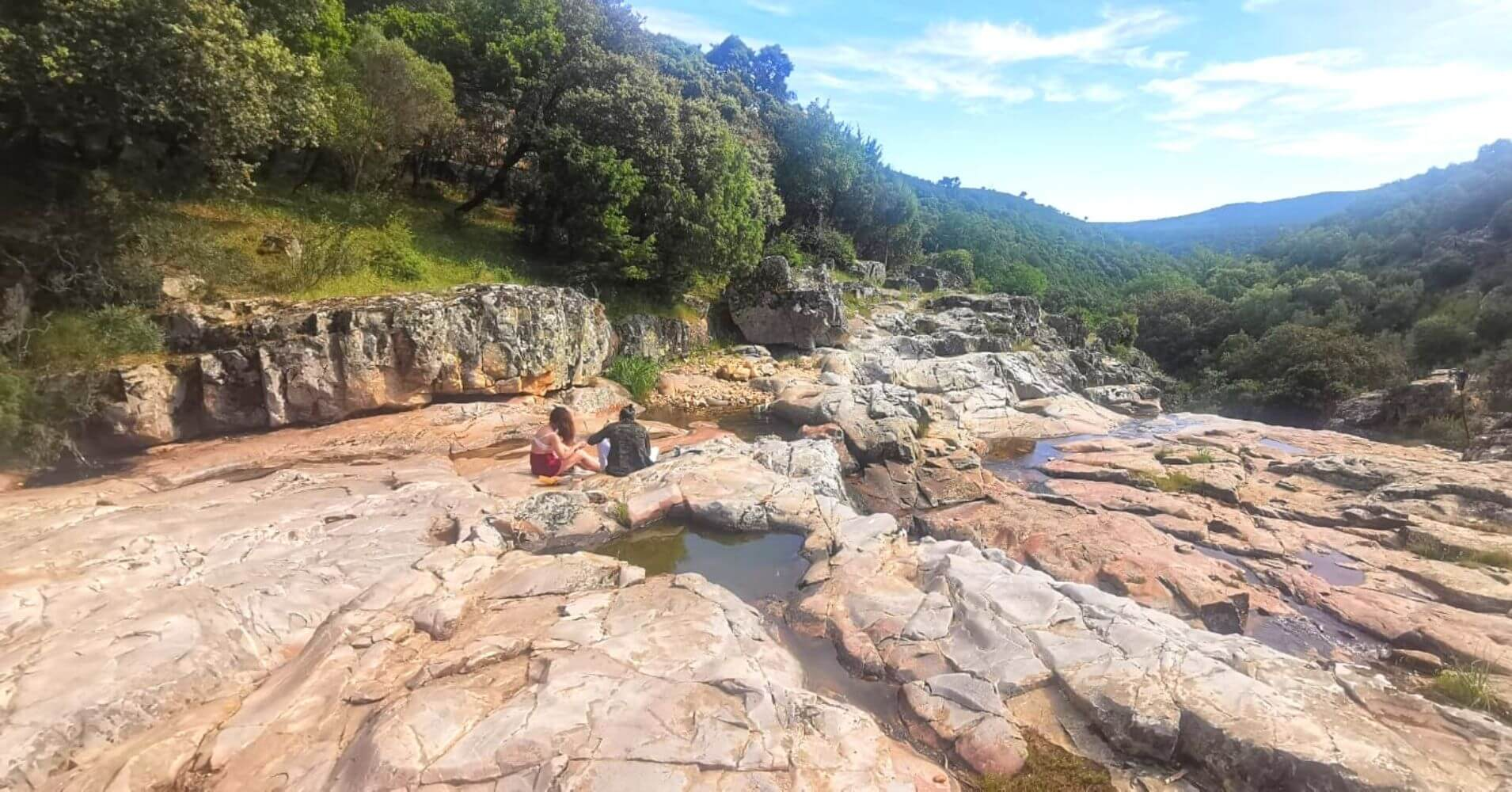 Panorámica del Parque Natural Valle de Alcudia y Sierra Madrona. Ciudad Real, Castilla La Mancha.