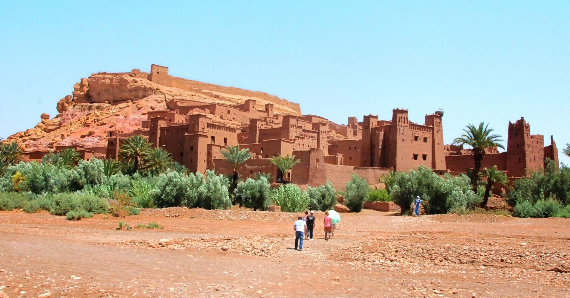 Panorámica Kasbah Aït Ben Haddou, Marruecos.