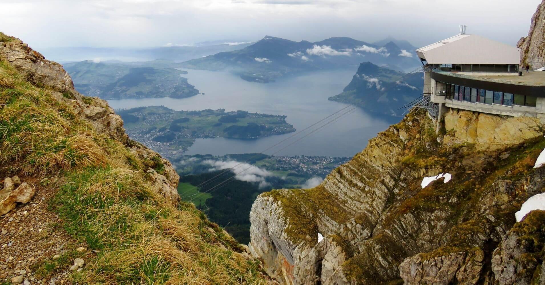 Panorámicas de los Lagos desde el Monte Pilatus. Suiza.