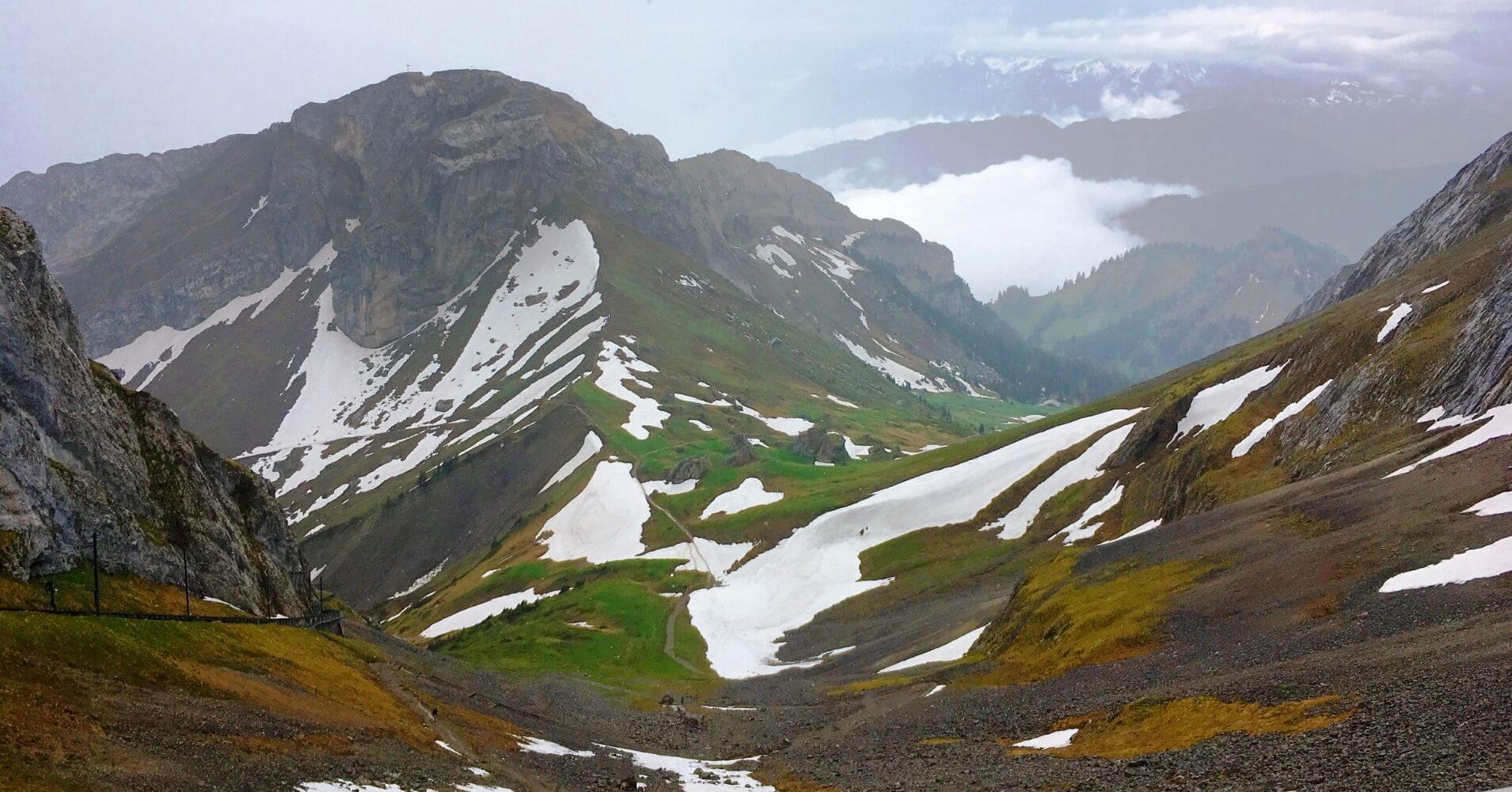 Panorámicas desde la cumbre. Suiza.